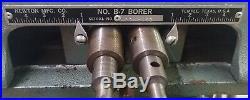 Newton B-7 Horizontal Boring Machine 1 HP Dual Spindle single phase