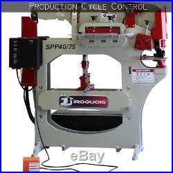 ON SALE NOW! New Hydraulic Ironworker Machine 75 Ton Punch 40 Ton Press Shear
