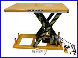 Omni Electric Hydraulic Scissor Lift Table 32 x52 x40inch 2000lb 1Ton 110/115v