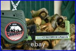 PORTEK CHARGER 8.5 TON LOG SPLITTER Impact Mains Electric Logs Cutting Wood