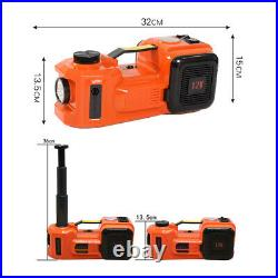 Portable 12V 5Ton Car Electric Hydraulic Floor Jack Lift LED Air Inflator LED
