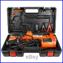 Portable Car Electric Jack Floor Jack 3 Ton Lift Scissor Jacks DC 12V Repair Kit