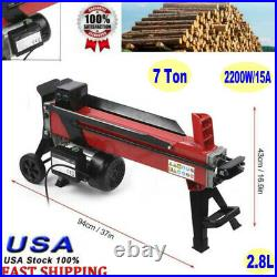 Portable Electric Hydraulic Log Splitter 7 Ton Wood Cutter Powerful 2950rpm 2.8L