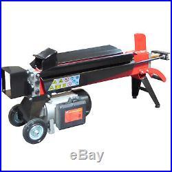 Portable Horizontal Wood Log Splitter Electric Hydraulic Power 2HP 15A 5 TON