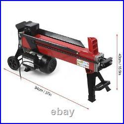 Portable Wood Log Splitter Electric Hydraulic Power 2200W 15A 7 TON 2950rpm