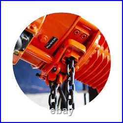 Prowinch 1 Ton Electric Chain Hoist Power Trolley 20 ft. G100 Chain M4/H3 220