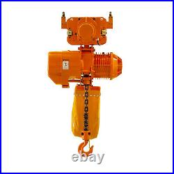 Prowinch 2 Ton Electric Chain Hoist with Electric Trolley 20ft Lifting Height G1