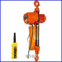 Prowinch 5 Ton Electric Chain Hoist 30ft G100 Chain M4/H3 220240/380/460V