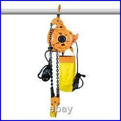 Top Electric Chain Hoist 2200 lb. Electric Crane Hoist HD Super 1 ton 10ft Lift