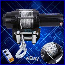 US 4000 Lb 12V Electric Winch ATV Towing Truck Trailer Boat Pound 2 Ton