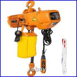 VEVOR 1 Ton Electric Chain Hoist Single Phase Hoist Crane 2200lbs 20ft 110V