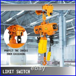 VEVOR 1 Ton Electric Chain Hoist Single Phase Hoist Crane 2200lbs10ft Chain 110V