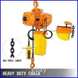 VEVOR 1Ton Electric Chain Hoist Single Phase Hoist Crane 2200LBS10FT Chain 110V