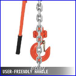 VEVOR 3Ton 6600lbs 20ft Ratcheting Lever Block Chain Hoist Industry Tool
