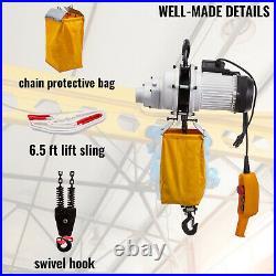 VEVOR Electric Chain Hoist Single Phase Crane Hoist 2200lbs 1ton Load 10ft Lift