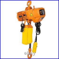 VEVOR Electric Chain Hoist Single Phase Hoist Crane 2200lb/1 ton 10ft Chain 110V