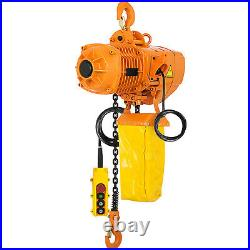 VEVOR Electric Chain Hoist Single Phase Hoist Crane 2200lbs/1ton 10ft Chain 110V