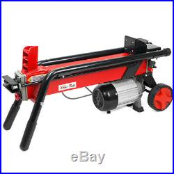 XtremepowerUS 7Ton Electric Log Splitter Wood Cutter with Mobile Hydraulic Wheels