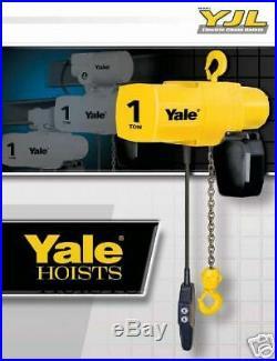 Yale YJL 2 Ton Electric Chain Hoist 20 ft Lift YJL2-20TH8S2 New